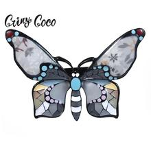 Cring Coco Best-selling Designer Brooches for Women Clothing Dress Brand Vintage Enamel Butterfly Accessories Christmas Gifts
