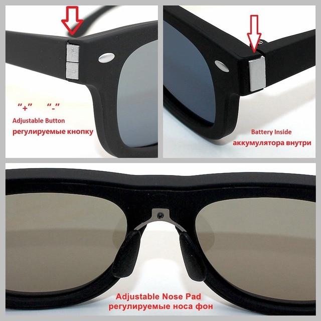 2a1e43da987 2018 Original Design Sunglasses LCD Polarized Lenses Electronic Adjustable  Transmittance with Liquid Crystal Tint Sun Lenses