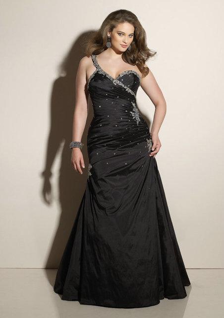 Black Mermaid Designer Vestido De Festa Long Satin Big Girl Sexy