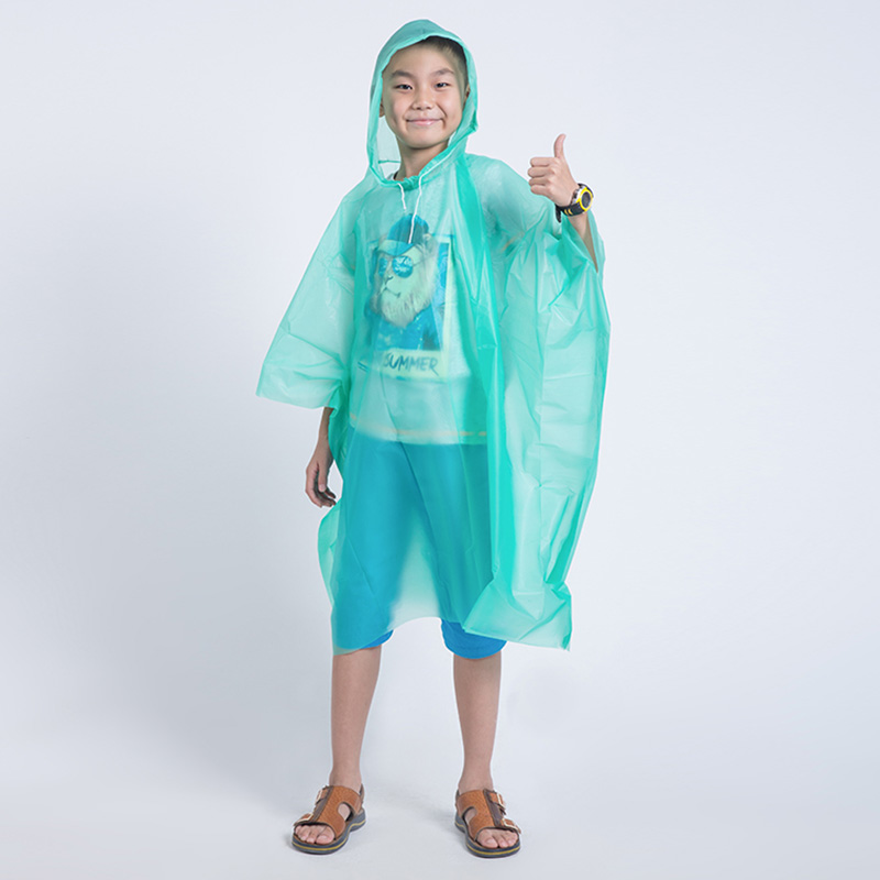 Wegwerp Kinderen Poncho Regenjas Waterdicht Transparant Kinderen capa de chuva infantil menino Regenkleding Camping Pluie Regenjas