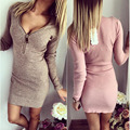 2017 Fashion Spring Autumn plus size Women Dress Long Sleeve V-neck Sexy Dress Stretch Bodycon Dresses Casual Clothing Vestidos