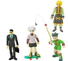 4pcs/lot Hunter X Hunter Action Toy Figures PVC Killua Zoldyck Kurapika Gon Freecss Loose