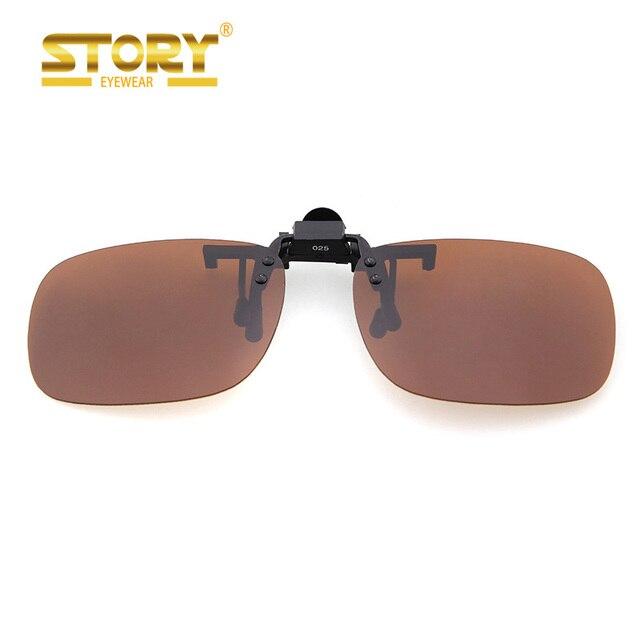 9f65580620149 Story praça polarizada clip sobre óculos de sol para mulheres dos homens sem  aro miopia flip