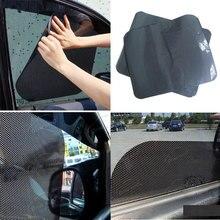 2Pcs Car Window Sun Shade Cover Block Static Cling Shield Screen Black