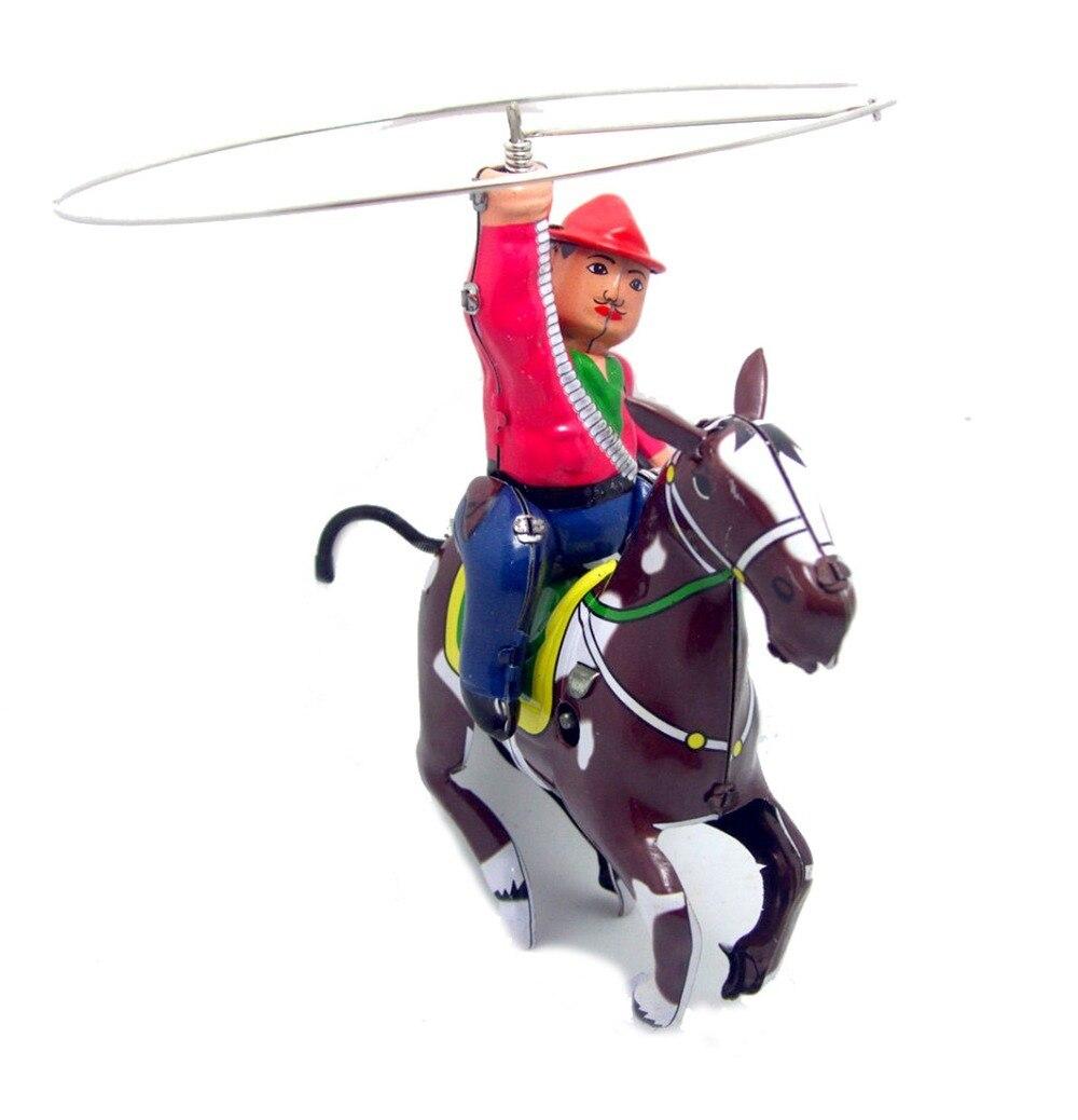 rare collection of iron toys Tin Riding Cowboy Model