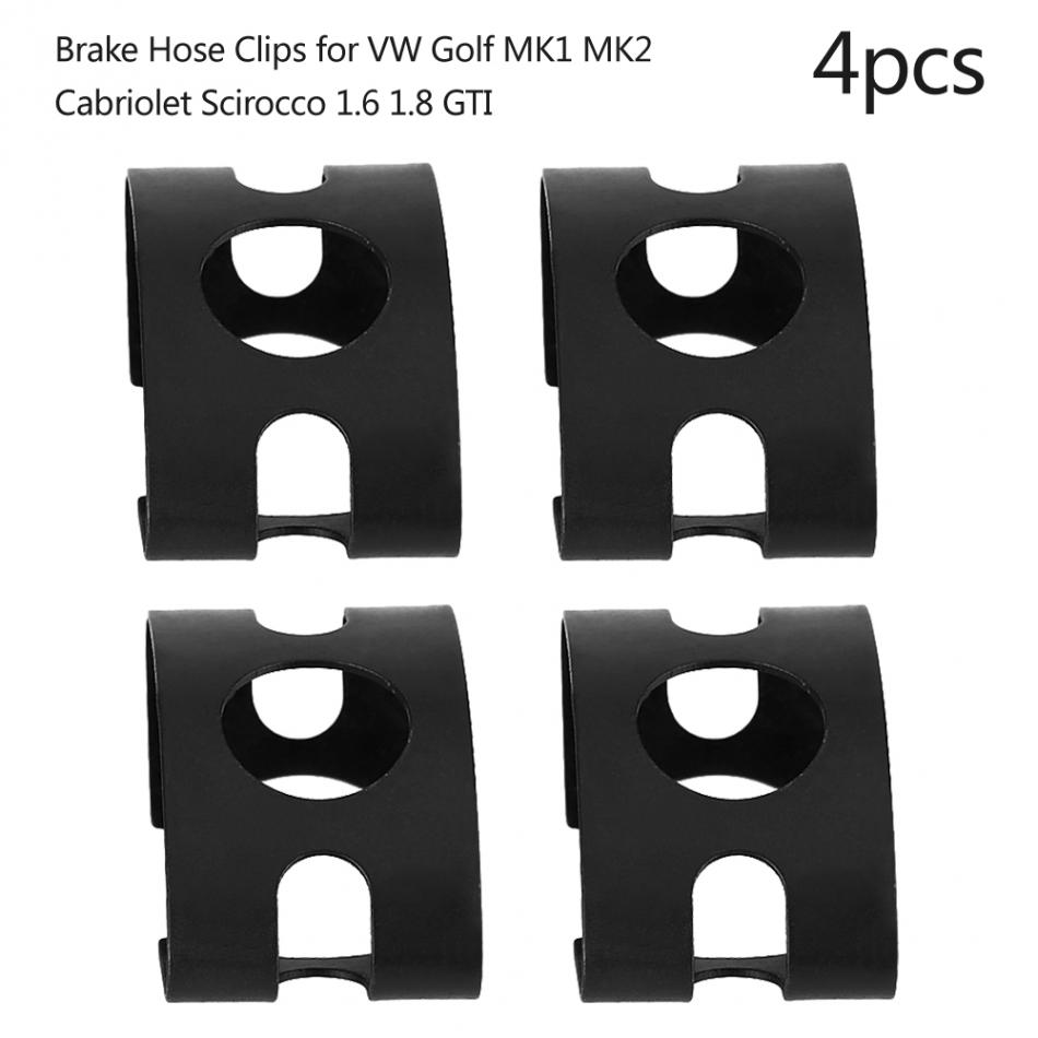 4pcs Brake Hose Clips for VW Golf MK1 MK2 Cabriolet Scirocco 1.6 4D0611715B