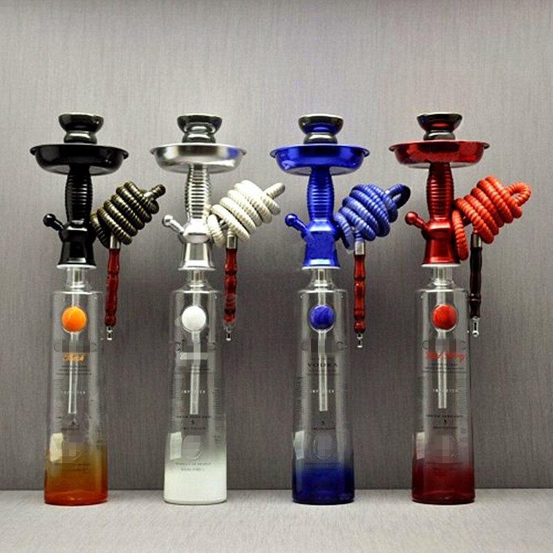 Shisha Shisha Champagner/Wein Flasche Top Shisha Stem Kit HOOKITUP Aluminium Shisha Chicha Komplette Set Mit Schüssel Und Schlauch