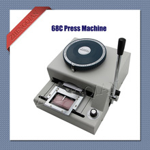 Manual pvc card press machine 68 characters  embosser printer