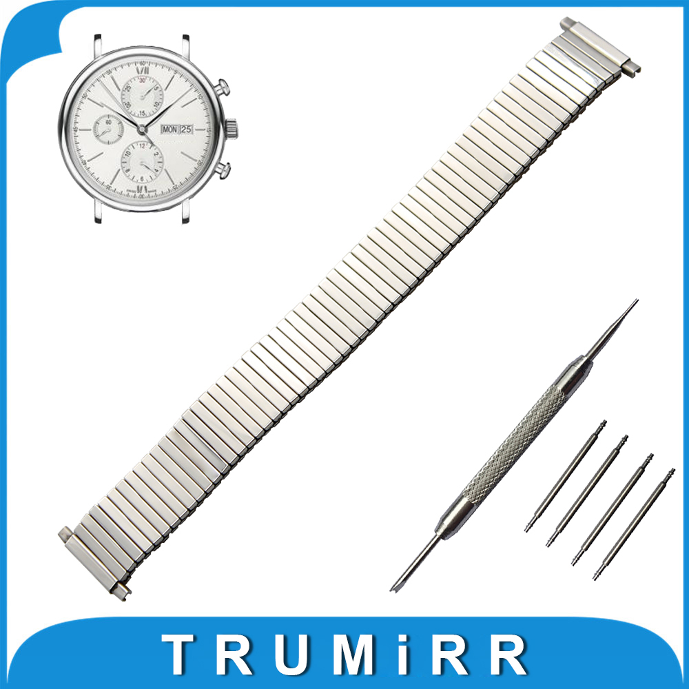 20mm 22mm Elastic Expansion Watchband for IWC Watch Stainless Steel Band Strap Wrist Belt Bracelet + Spring Bars + Tool лобзик dwt sts06 80 d