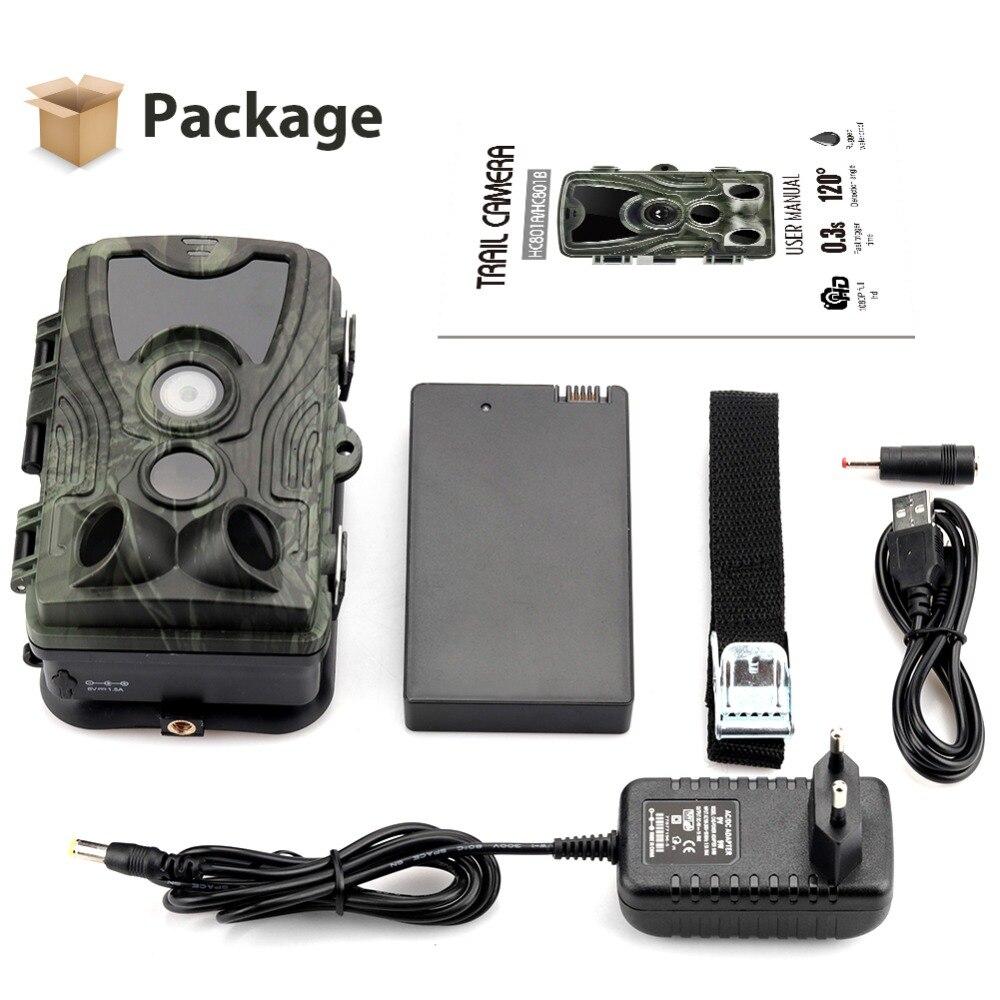 Caméra de chasse avec batterie au Lithium 5000 Mah 16MP HC801 1080 P IP65 étanche Photo pièges 0.3 s Surveillance sauvage - 3