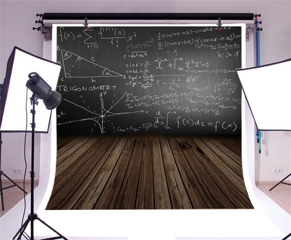 Laeacco Photo Background Dark Blackboard Chalk Wooden Floor Back To School Child Classroom Photographic Backdrops Photo Studio in Background from Consumer Electronics