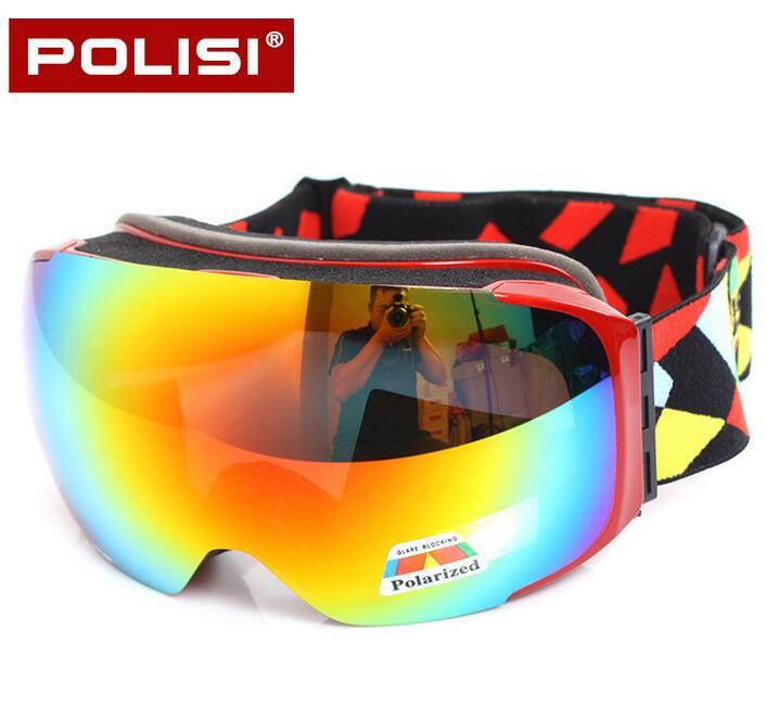 ФОТО POLISI Professional Skiing Goggles Replaceable 2 Lenses Anti-Fog Snow Glasses Men Women UV400 Winter Snowboard Skate Eyewear