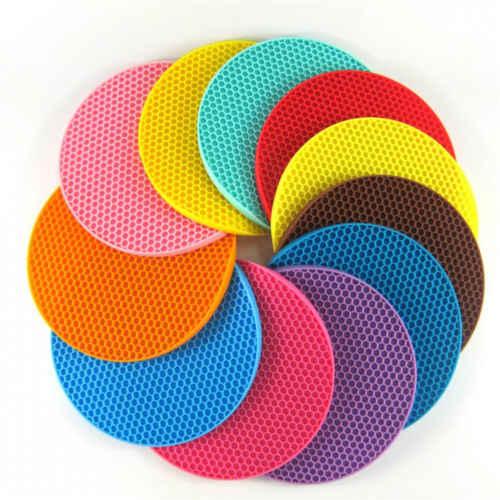 Многофункциональная круглая силиконовая Нескользящая термостойкая подставка для посуды Coaster мягкая подставка держатель для горшка кухонные аксессуары