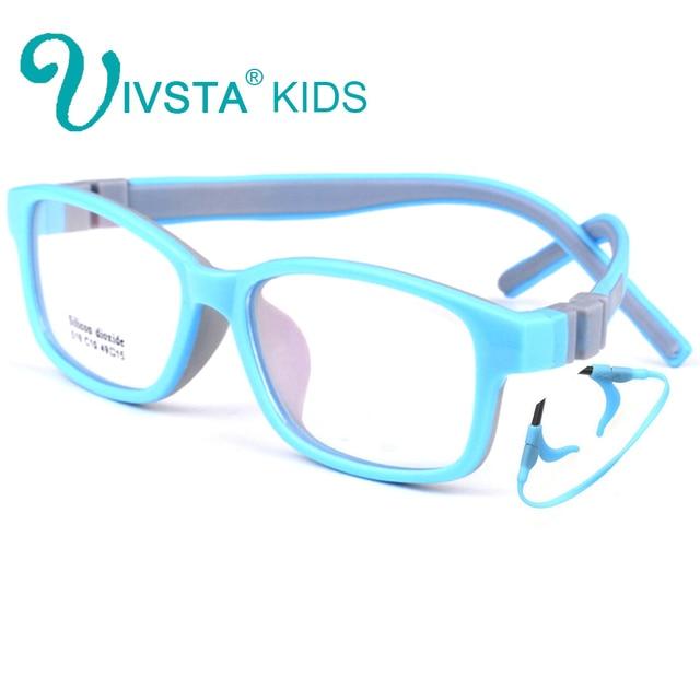 5e5f9376081e IVSTA 519 Silicone Dioxide Girls Eyeglasses 49-15 TR90 Kids Prescription  Glasses Frame with retainer