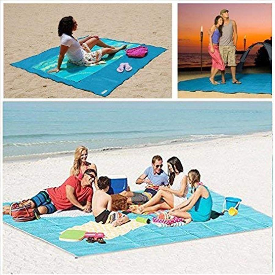 Camping & Hiking Dropshipping Sand Free Beach Mat Blanket Sand Proof Magic Sandless Cover Sandfree Picknickdecke Picknick Manta Travel Mats Camping Mat