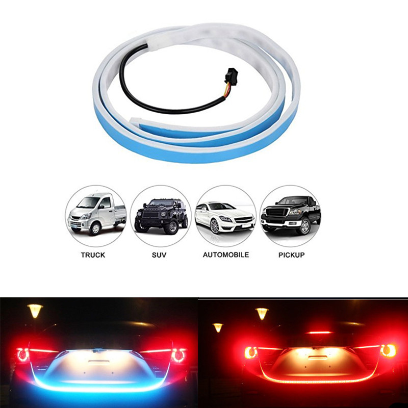 120 150 CM Amber Flow Red Blue Led trunk strip Undercarriage Floating light Turn Signal tailgate Led flexible drl car styling