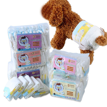 10PCS/Bag Pet Dogs Diapers Pet Female Dog Disposable Dog Diapers Pets Products Super Absorption Leakproof Physiological Pants