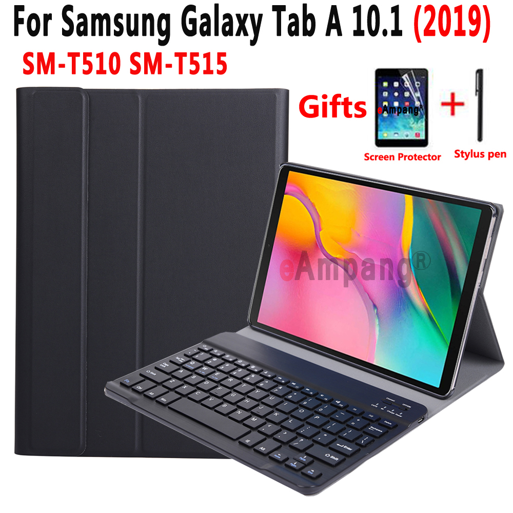 Detach Keyboard Case for Samsung Galaxy Tab A 10.1 2019 SM-T510 SM-T515 T510 T515 Tablet Slim Leather Cover Bluetooth KeyboardDetach Keyboard Case for Samsung Galaxy Tab A 10.1 2019 SM-T510 SM-T515 T510 T515 Tablet Slim Leather Cover Bluetooth Keyboard