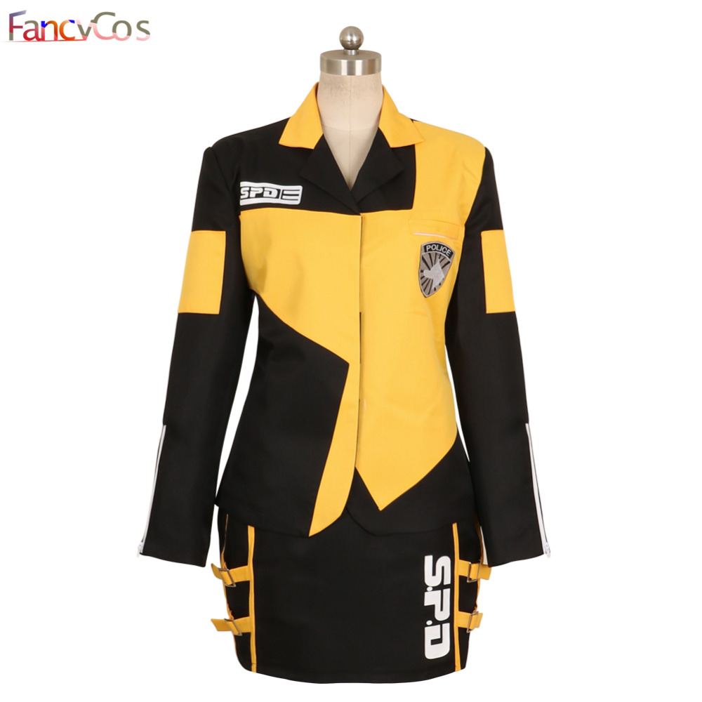 Halloween Tokusou Sentai Dekaranger Deka Yellow Marika Reimon Jasmine Uniform Dress  Cosplay Costume Game Anime Japanese