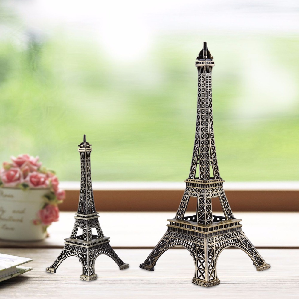 Wholesale Bronze Tone Paris Eiffel Tower Figurine Statue