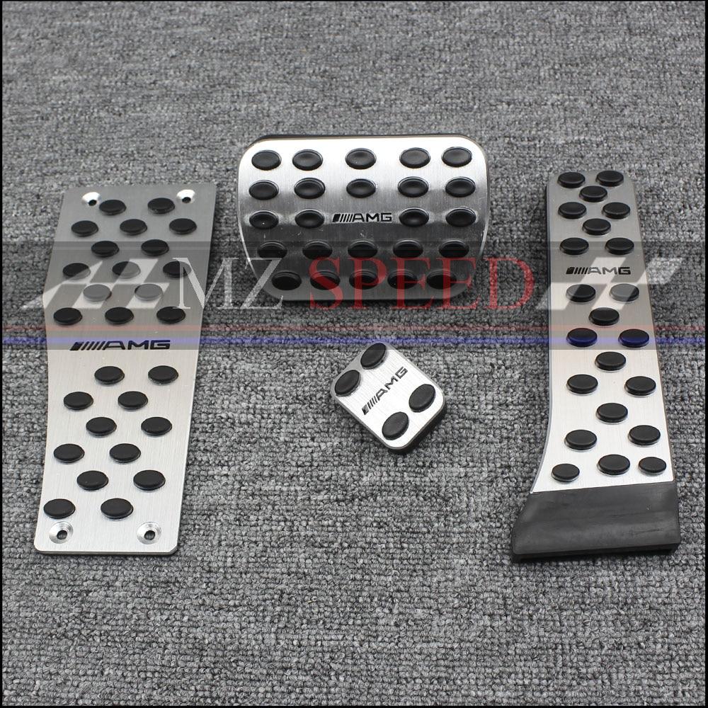 Aluminum alloy pedal for Mercedes Benz C E S GLK SLK CLS SL-Class W203 W204 W211 W212W210 AMG,accelerator brake footrest pad