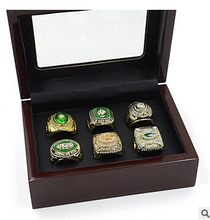 Drop Shipping 6pcs/set  NFL Green Bay Packers Super Bowl Rings  six years championship rings Sets  Custom Sports Fan Jewelry