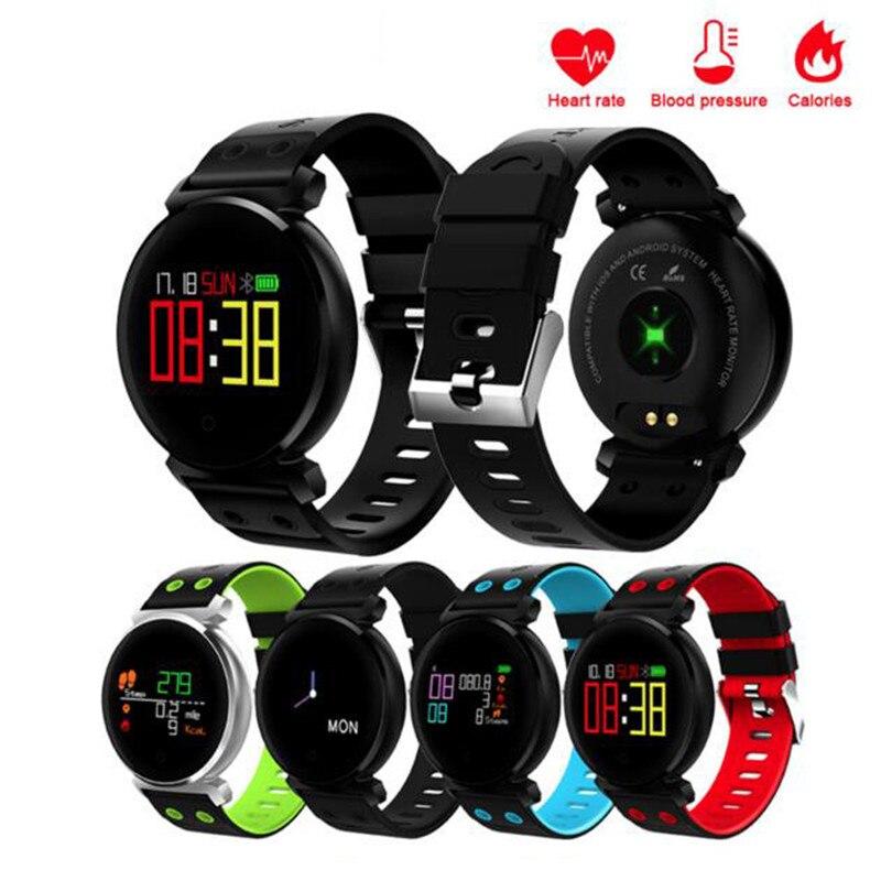 Pulsomètre Fitness Montres Moniteur de Pression Artérielle Montre Smart Watch Pedometre Smart Bracelet Moniteur de Fréquence Cardiaque Bande À Puce Pour xaomi