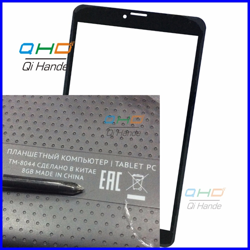 Black New Touch Screen Digitizer For TEXET TM-8044 8.0 3G tablet PC Touch panel sensor replacement Free Shipping new touch screen digitizer 7 texet tm 7096 x pad navi 7 3 3g tablet touch panel glass sensor replacement free shipping