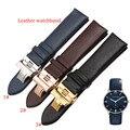 Аг темно-синий кожаный ремешок для часов Rosegold бабочка развертывания Застежка 20 мм 22 мм для кварцевых часов гладкой натуральной кожи новый