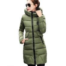 Army green Thick Hooded Down cotton Jacket Ukraine Winter Warm Parkas New Female 2017 Fashion Exquisite Coat Women Waichuan X218