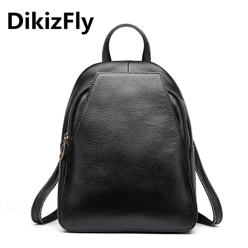 DikizFly Women Backpacks Women's Genuine Leather Backpacks Female School Shoulder bags Teenage girls college student Travel bag menghuo casual backpacks embroidery girls school bag female backpack school shoulder bags teenage girls college student bag