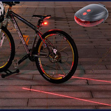 Bike Cycling Lights Waterproof Mountain bike 5LED2 Lasers 3 Modes Taillight safety warning lights riding equipment accessor