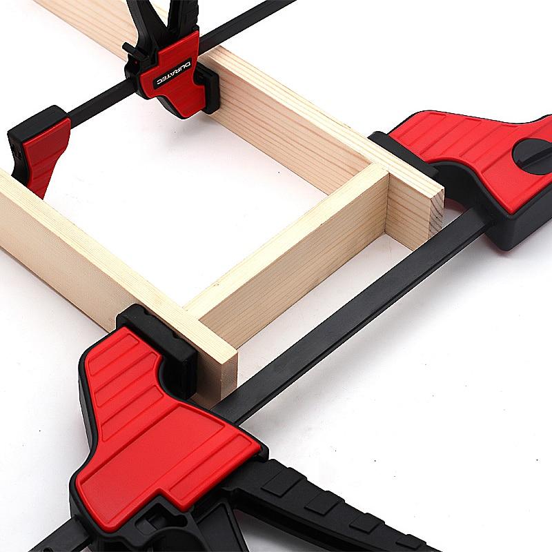 Abrazadera de barra de acero para la producci/ón de muebles en la industria del embalaje abrazadera en F de acero inoxidable abrazadera de madera duradera