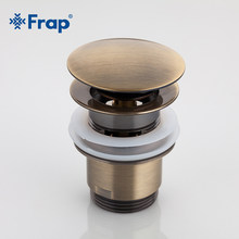 Frap nieuwe bad Afvoer Bad Wastafel Overloop Gat Sink Tap Push Button Pop up Afval Plug Ingelaste Spoelbakken Drains f60 F60-4(China)