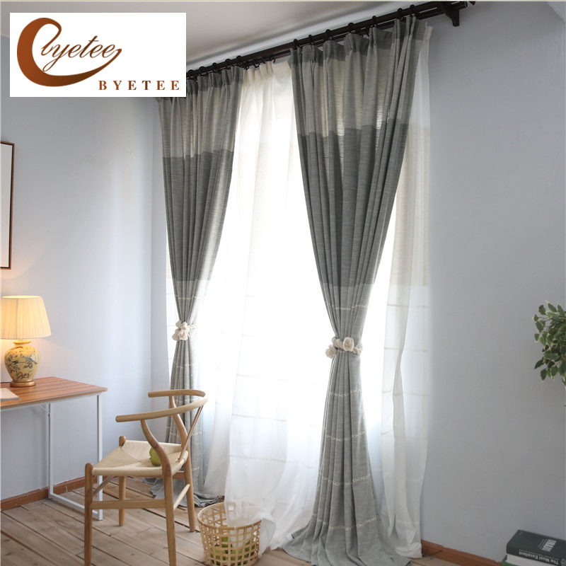 Byetee Modern Living Room Luxury Window Curtains Striped: {byetee} Flax Linen Luxury Curtains Modern Living Room