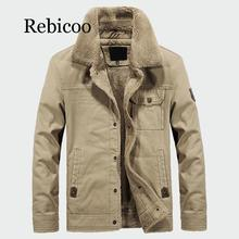 купить Rebicoo 2019 Men's Thick Fleece Coats Winter Warm Jackets Padded Casual Hooded Thermal Parka New Men Overcoat Mens Clothing по цене 2725.64 рублей