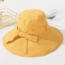 Women Bowknot Fisherman Hat Harajuku Sun Protection Beach Summer Design Fishing Bucket Panama Cap Fashion Hats