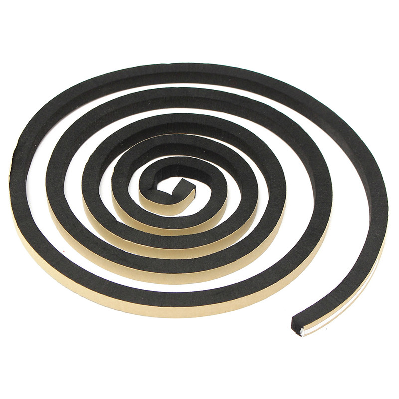 2m EPDM Self Adhesive Foam Sealing Tape Strip Draught Excluder EPDM Rubber Three Sizes Thickness 10mm For Door Window Seal Strip 5m e type foam draught self adhesive window door excluder rubber seal strip