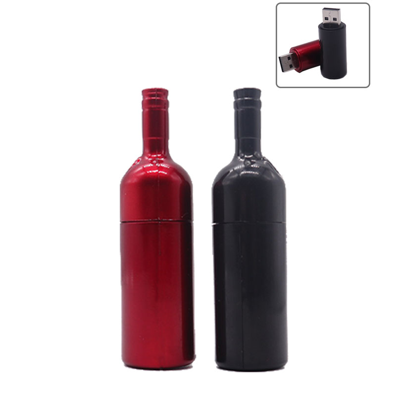 Wholesale Usb Flash Drive 64gb Real Capacity Pendrive 4GB 8GB 16GB 32GB Wine Bottle Memoria Usb Stick Fashion Gift Pen Drive Cle