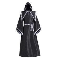 Scary Wizard Costume Halloween Costumes for Women Men Monk Robe Horror Skeleton Zombie Devil Dress