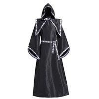 Scary Wizard Costume Halloween Costumes for Women Men Monk Robe Horror Skeleton Zombie Wizard Costumes Devil Halloween Dress