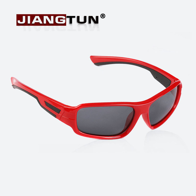Bicolor JIANGTUN Crianças Óculos Polarizados Moda Óculos de Design Da Marca  Do Vintage Óculos De Sol 493703d54c