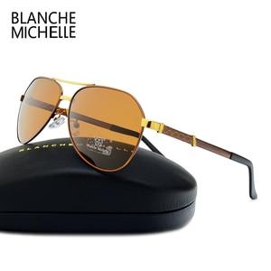 Image 4 - Di alta Qualità Pilot Occhiali Da Sole Polarizzati Uomini UV400 di Guida Occhiali Da Sole Uomo Vintage Occhiali Da Sole Uomo 2020 okulary oculos Con La Scatola Polarized Sunglasses Men