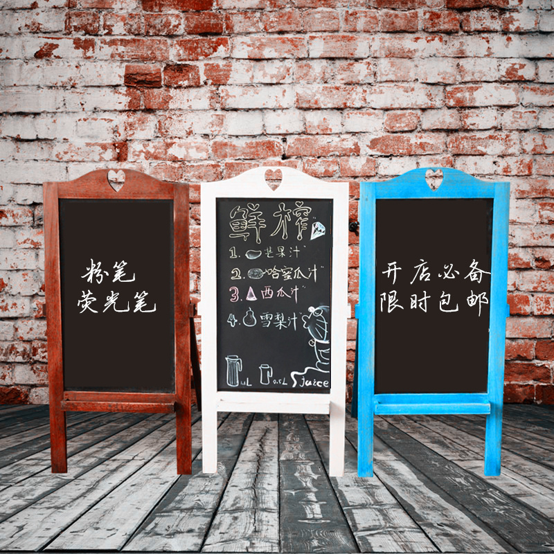 Promotions do the old wood scaffolding small blackboard