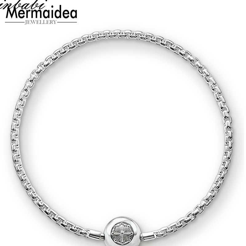 สร้อยข้อมือ Link Chain 925 แฟชั่นเครื่องประดับสำหรับผู้ชายผู้หญิงของขวัญอินเทรนด์ Karma Diy สร้อยข้อมือ