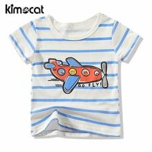Kimocat Baby Boy Clothes Summer O-Neck Short Sleeve Cotton Baby Boys T Shirt Cartoon Tops Tees Print Boys T-Shirt Kids Outwear недорого