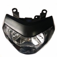 Motorcycle Accessories Black Front Lamp White Light Headlamp Headlight H4 Halogen Bulb For YAMAHA MT09 FZ09