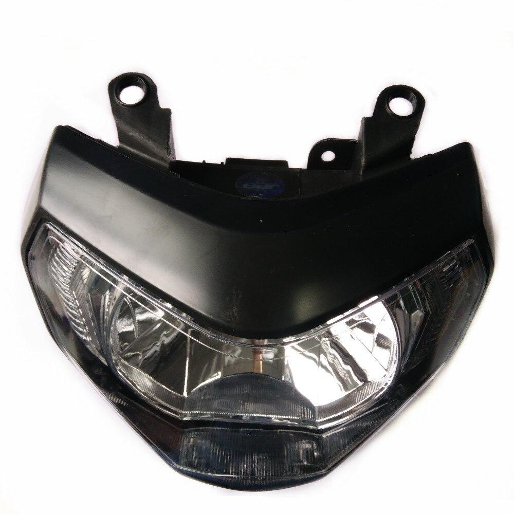 Moto accessoires noir avant lampe white light phare phare H4 halogène ampoule Pour YAMAHA MT09 FZ09 MT-09 2014-2016