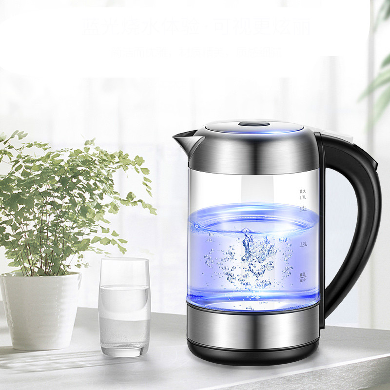 Automatic power cut for large capacity glass kettle water burnerAutomatic power cut for large capacity glass kettle water burner