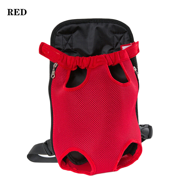 Pet Carrier Dog Front Chest Backpack Five Holes Backpack Dog Outdoor Carrier Tote Bag Sling Holder Mesh Cat Puppy Dog Carrier 10
